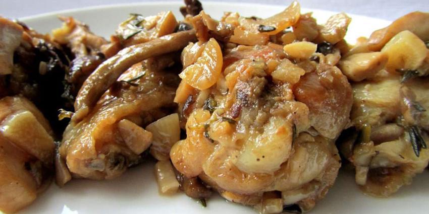 Μανιτάρια πλευρώτους με μοσχάρι στο φούρνο